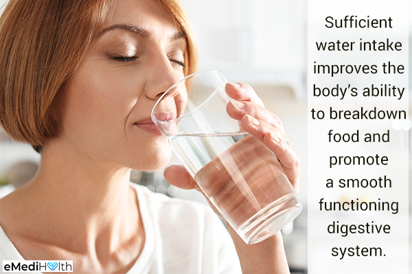 adequate water intake ensures a healthy digestive system