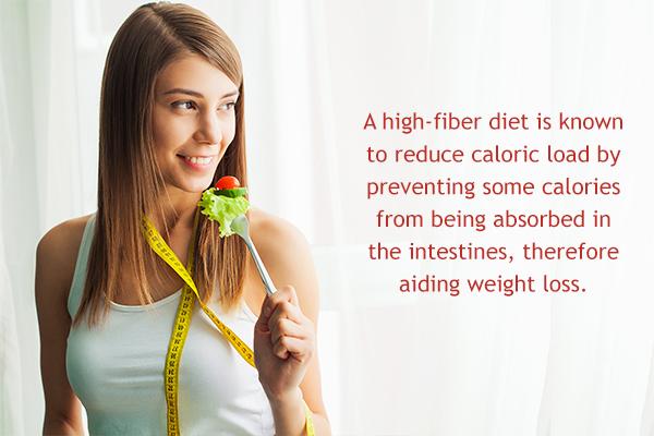 eating fiber-rich diet can help regulate your weight