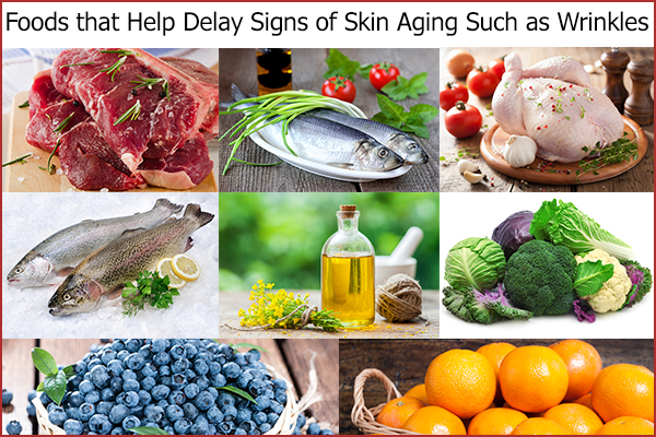 foods that can help delay signs of skin aging