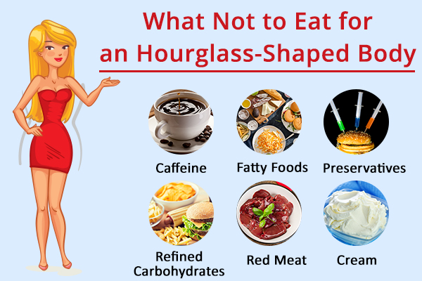 foods to avoid for an hourglass-shaped body type
