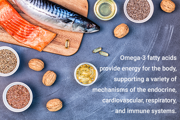 include foods rich in omega-3 fatty acids in your diet