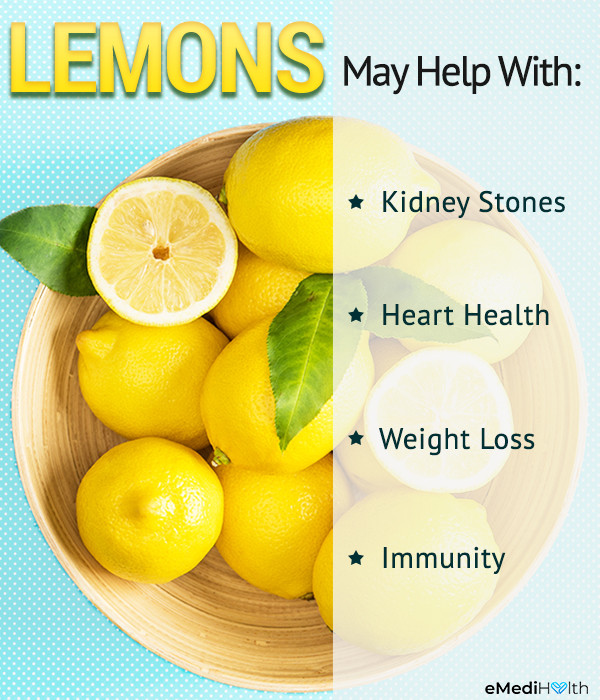 health benefits of consuming lemons