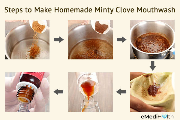 steps to make a homemade mouthwash