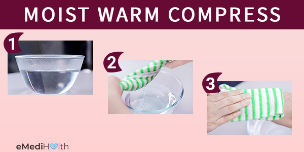 moist warm compress