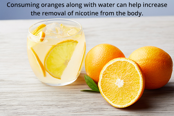 can oranges help remove nicotine from your body?