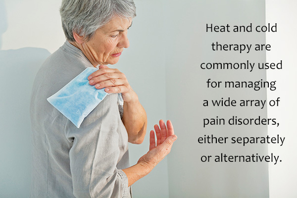 warm and cold compresses can aid in relieving pain