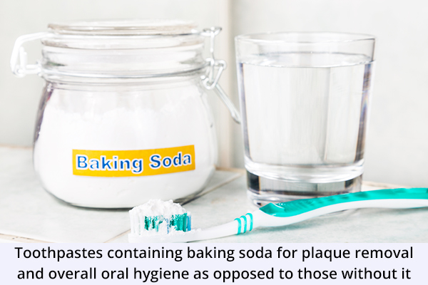 baking soda usage can help remove plaque and tartar buildup