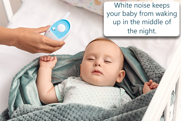 playing white noise sounds can help lull your baby to sleep