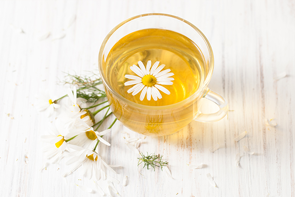 drinking chamomile tea can help relieve pms discomfort