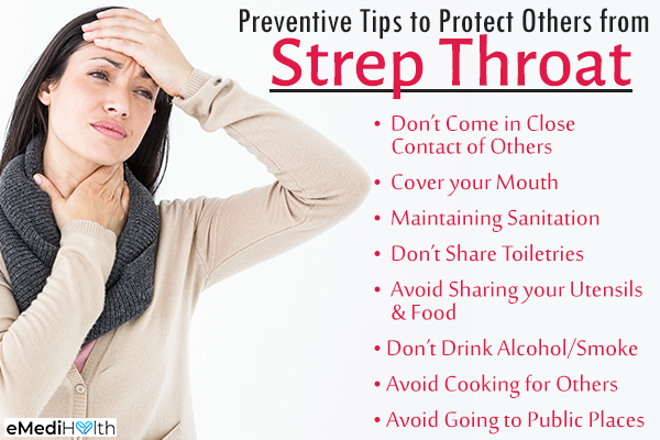 tips to prevent infecting others from strep throat