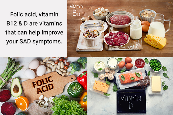 vitamins that can help improve symptoms of SAD
