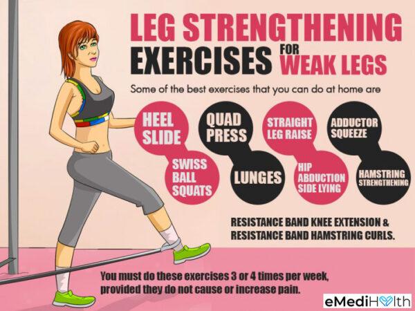 leg strengthening exercises for weak legs