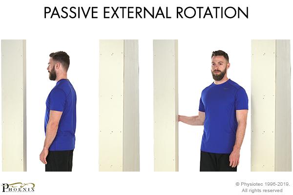 passive external rotation