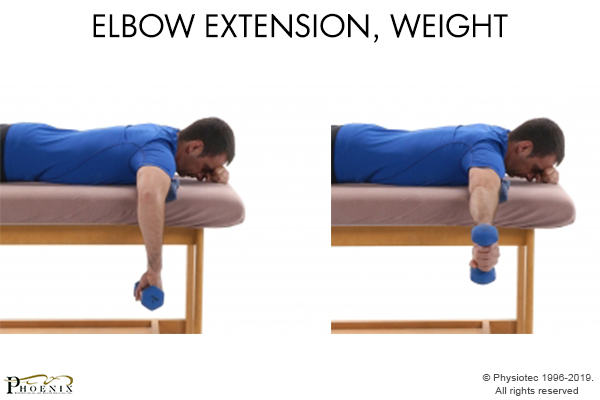 elbow extension with weight