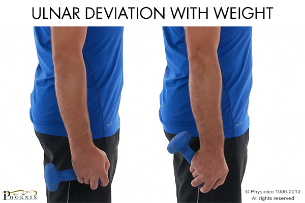 ulnar deviation with weight