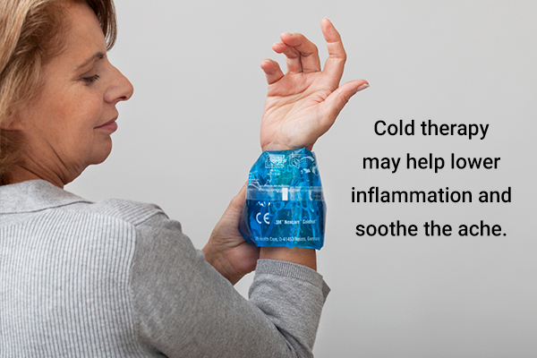 cold therapy can help lower inflammation and relieve gout pain