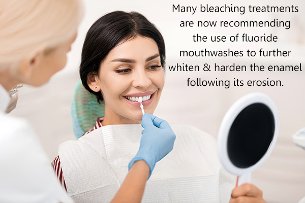 bleaching treatment for teeth whitening