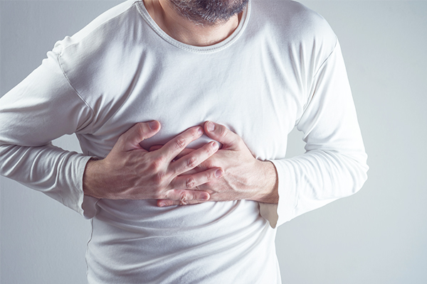 chest pain/pressure could indicate towards arterial blockage