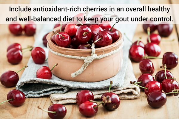 consume cherries to keep gout under control