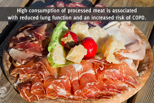 excess intake of processed meats can be harmful for lungs