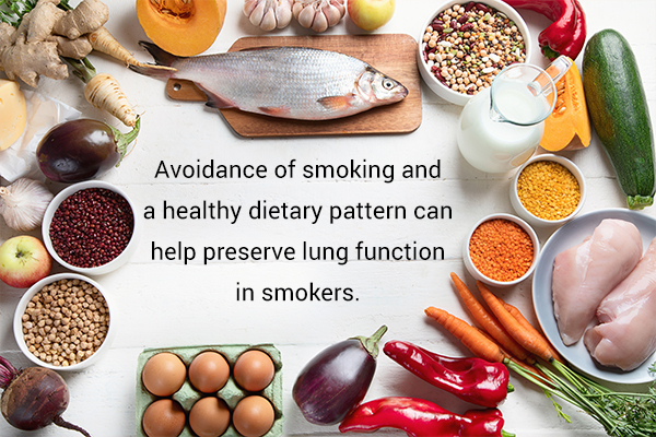 dietary tips to manage smoking-induced lung damage