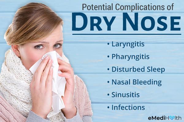 complications of nasal dryness