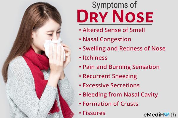 symptoms that accompany a dry nose
