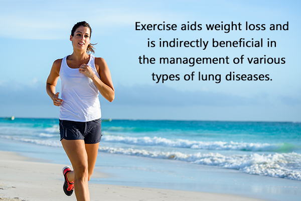 regular exercising can help manage lung diseases