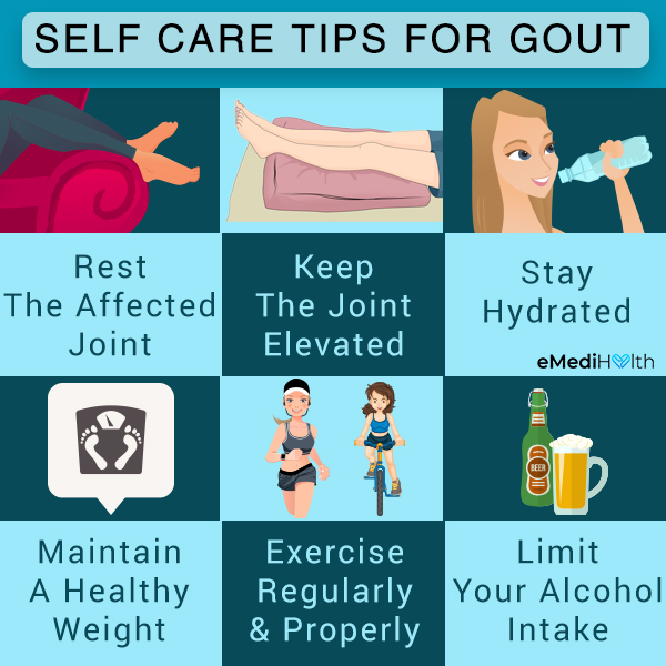 self-care tips to manage gout flare-ups