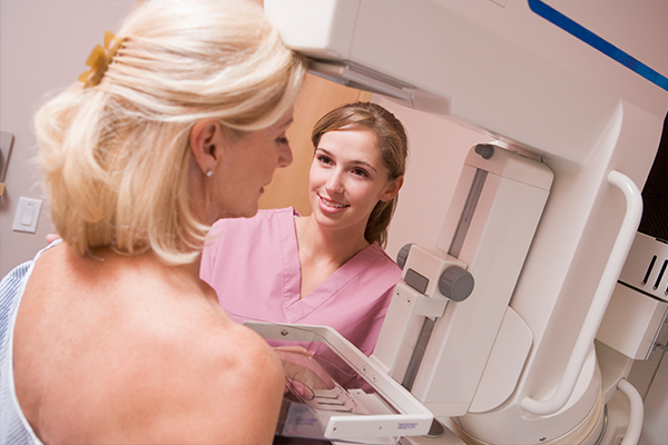 initial diagnosis of breast cancer