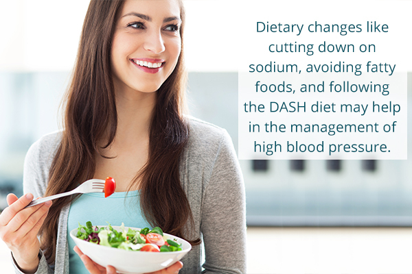 dietary modifications to manage high blood pressure