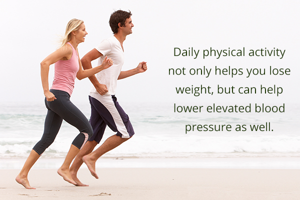 regular physical activities can help reduce high blood pressure