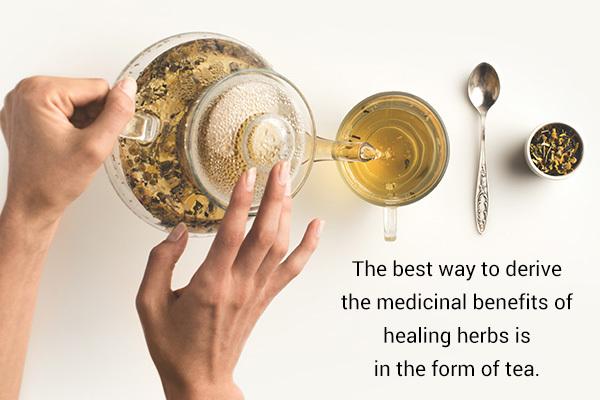 drinking herbal tea can help soothe nasal congestion