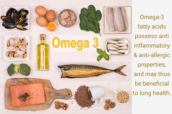 omega-3 fatty acids can help prevent various lung ailments