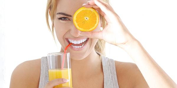 oranges can help lighten the skin