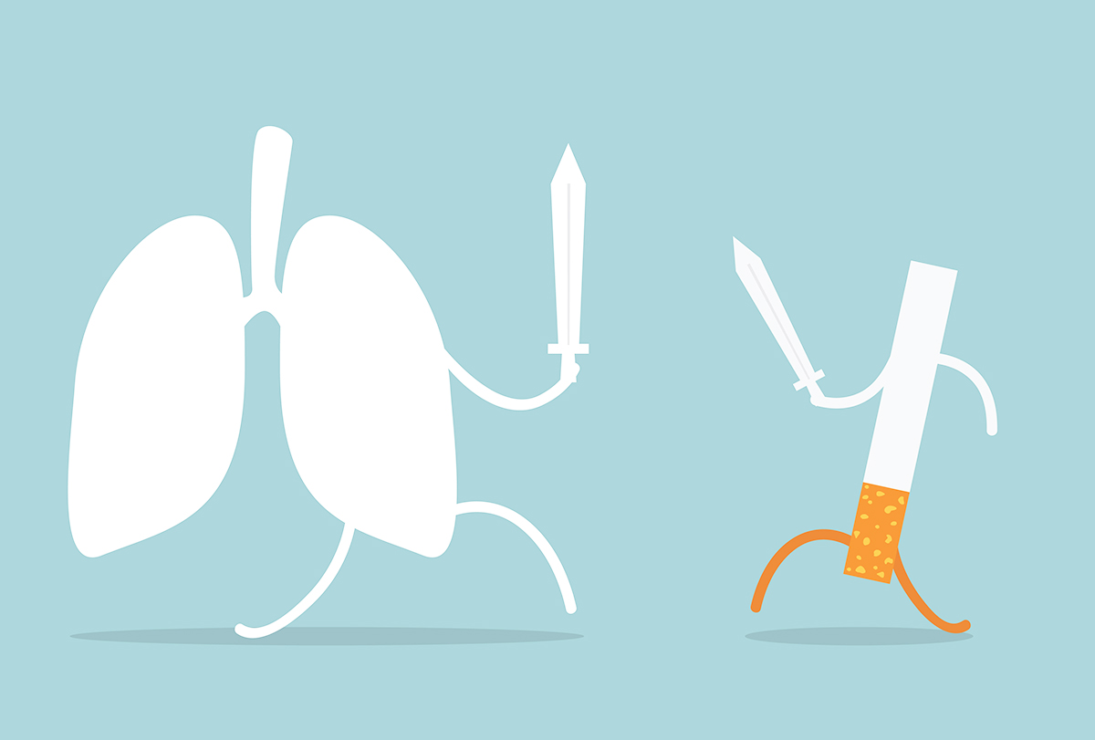 smoking is harmful for lungs