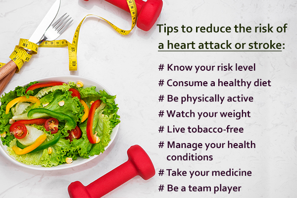tips and remedies to reduce heart attack and stroke risk