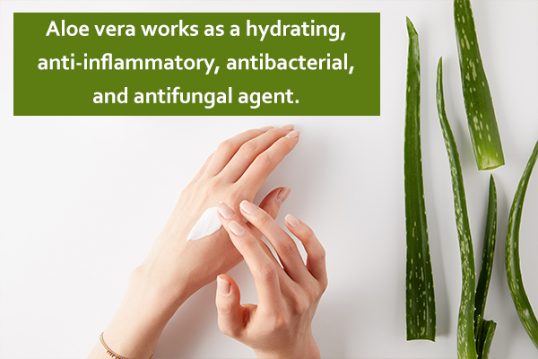 aloe vera can help soothe itchy skin