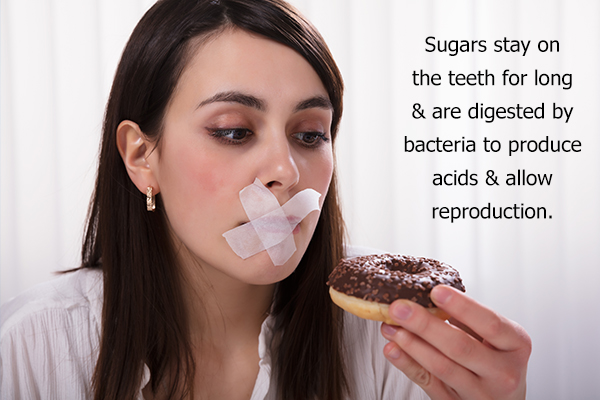 excess sugary foods can cause white lesions on teeth