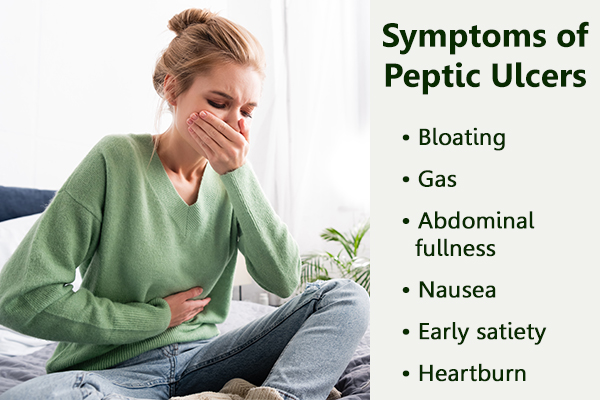 common symptoms that accompany peptic ulcers
