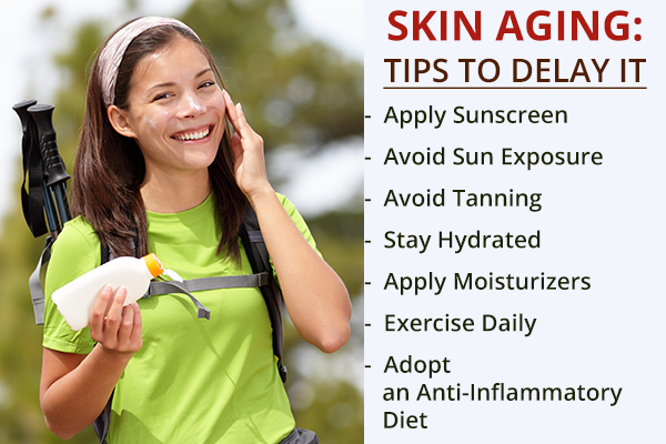 tips that can help delay skin aging