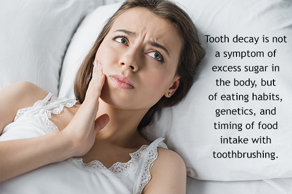 tooth decay and consumption of sugary foods
