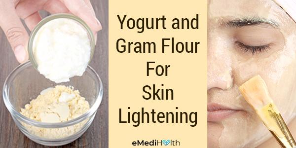 yogurt and gram flour can help moisturize your skin