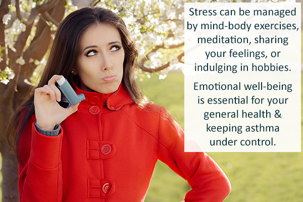 manage stress as it is a causative factor for asthma