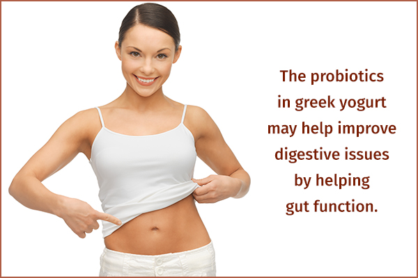 greek yogurt helps promote gut health