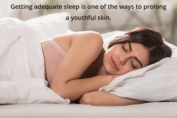sound sleep is important for younger-looking skin