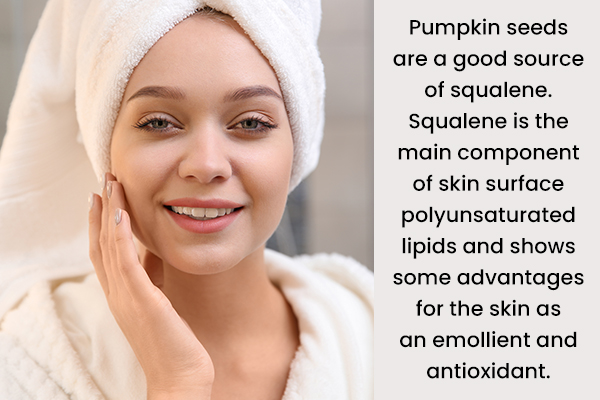 pumpkin seeds can help promote skin health