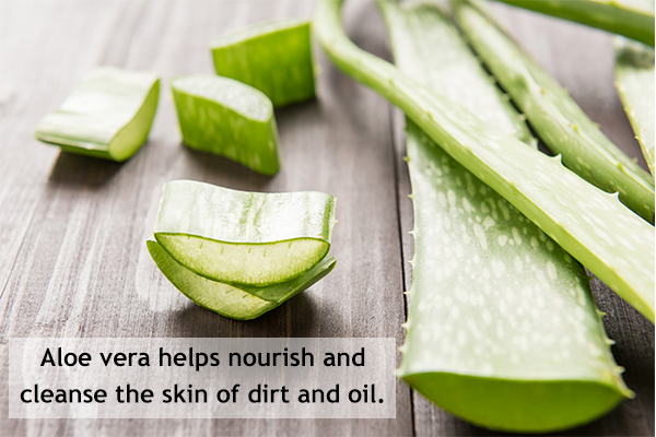 aloe vera gel usage can help reduce open pores