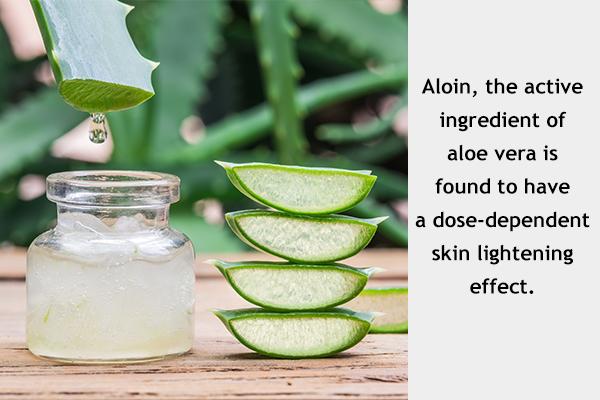 aloe vera gel application can help in skin lightening