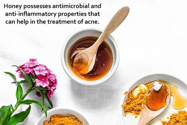 use honey mask to treat acne